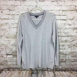 Tommy Hilfiger gray striped sweater